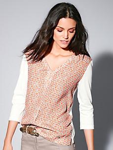 Brax Feel Good - Blusen-Shirt mit 3/4-Arm und V-Ausschnitt