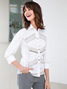 Just White - Bluse mit 3/4-Arm