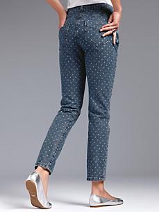 Looxent - Knöchellange Jeans mit Pünktchen-Print