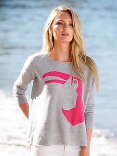 the lovely brand - Rundhals-Pullover aus 100% Kaschmir