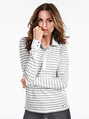 Brax Feel Good - Polo-Shirt mit Ringel-Dessin