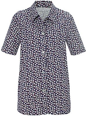 Green Cotton - Jersey-Bluse mit Hemdkragen