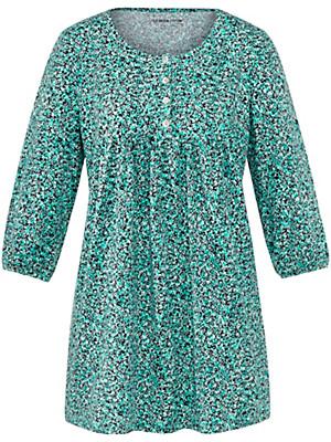 Green Cotton - Jersey-Tunika mit Gummizug am 3/4-Arm