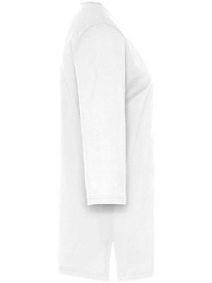 Green Cotton - Long-Shirt mit 3/4-Arm und V-Ausschnitt