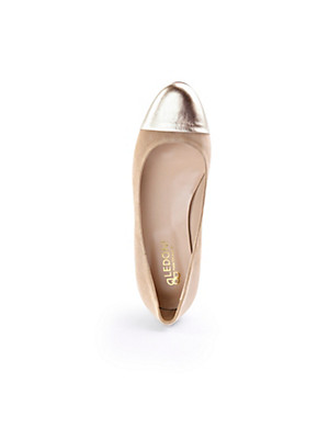 Ledoni - Ballerina aus samtigem Nubukleder