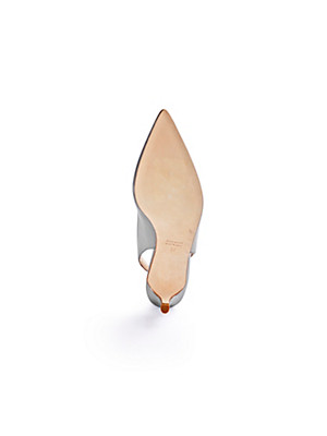 Ledoni - Sling-Pumps aus Rindslackleder