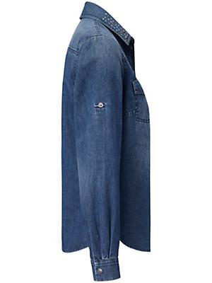 Looxent - Jeans-Bluse aus 100% Baumwolle