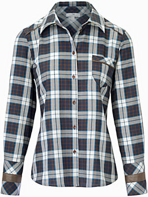 Looxent - Karo-Bluse aus 100% Baumwolle