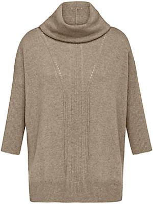 Peter Hahn Cashmere Nature - Rollkragen-Pullover mit 3/4-Arm