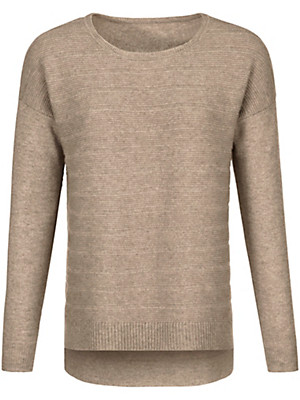 Peter Hahn Cashmere Nature - Rundhals-Pullover aus 100% Kaschmir