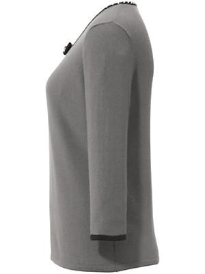 Peter Hahn Cashmere - Rundhals-Pullover aus reinem Kaschmir mit 3/4-Arm