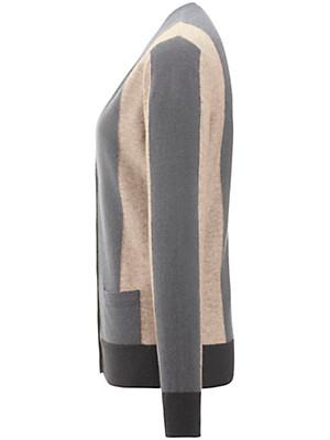 Peter Hahn Cashmere - Strickjacke mit V-Ausschnitt und aus 100% Kaschmir