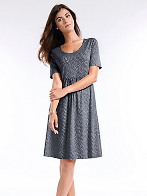 Peter Hahn - Druck-Kleid mit Ellipsen-Dessin