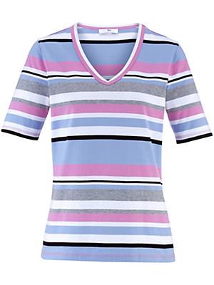 Peter Hahn - Shirt mit 1/2-Arm und V-Ausschnitt