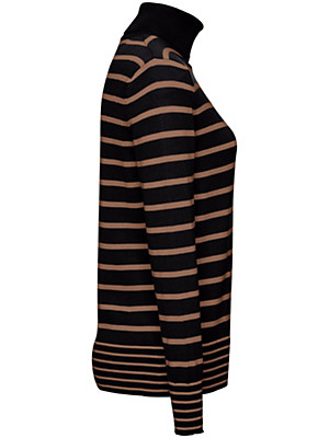 Peter Hahn - Streifen-Pullover mit Rollkragen