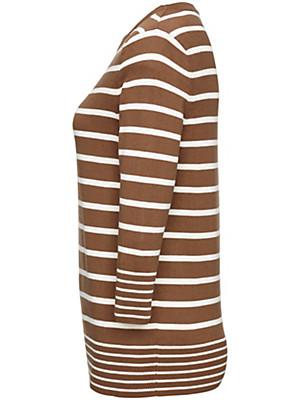 Peter Hahn - Streifen-Pullover mit Rundhals-Ausschnitt