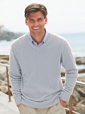 Peter Hahn - V-Pullover 100% Kaschmir – Modell VALENTIN