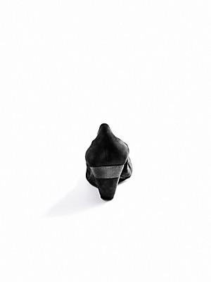Scarpio - Keil-Pumps aus Ziegenveloursleder