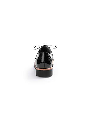 Softwaves - Schnürer aus Kalbs-Knautschlackleder