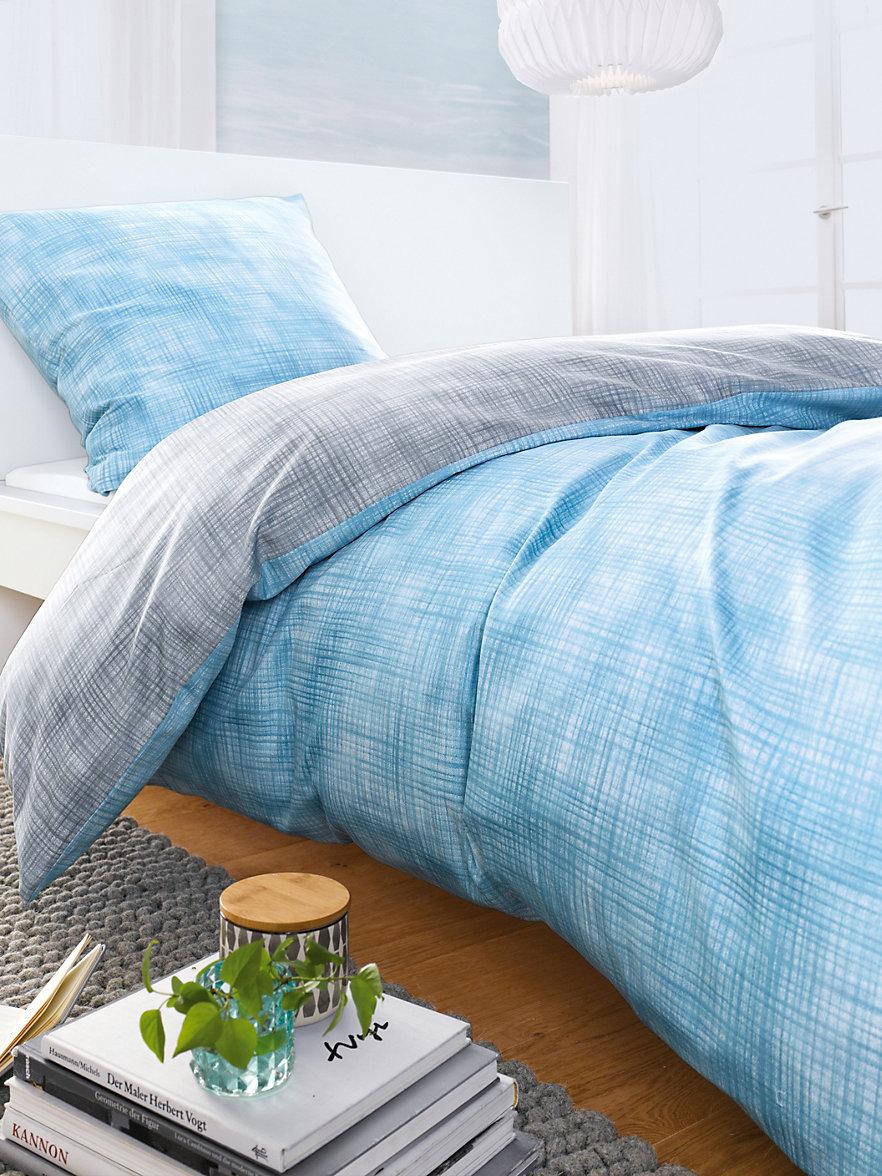 peter hahn 2 teilige bettgarnitur ca 135x200cm blau silber. Black Bedroom Furniture Sets. Home Design Ideas