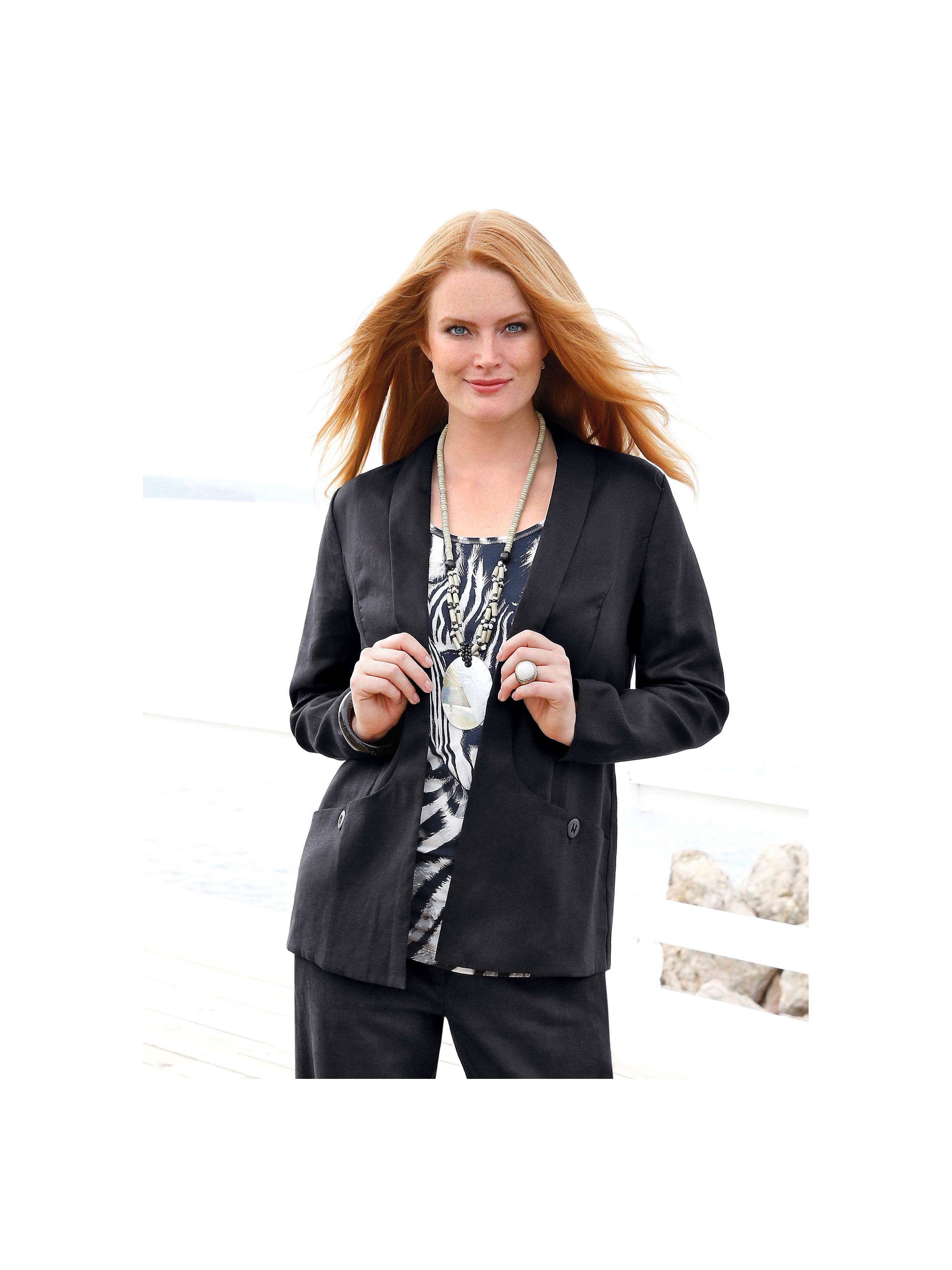 Blazer aus reinem Leinen Anna Aura schwarz Größe: 42€ 219,95Anbieter:  peterhahn.atVersand: € 5,95