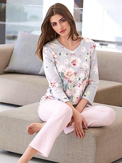 Charmor - Schlafanzug aus 100 % Baumwolle mit 3/4-Arm