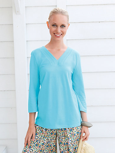 Green Cotton - V-Shirt mit 3/4-Arm