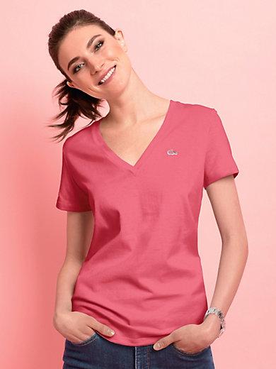 Lacoste - V-Shirt mit 1/4 Arm und in gerader Form