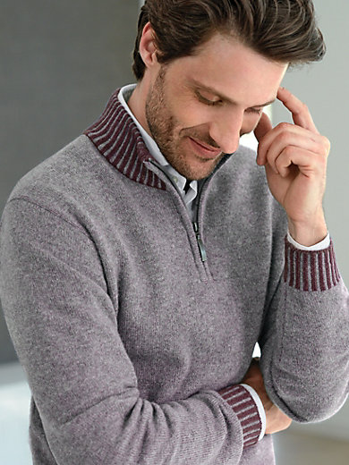 Peter Hahn Cashmere - Pullover mit Stehbundkragen aus 100% Kaschmir