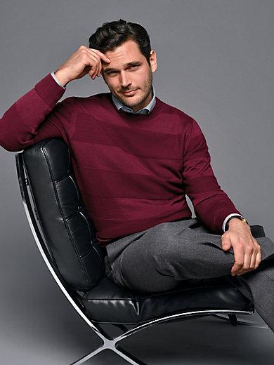 Peter Hahn - Pullover mit hochaktuellen Struktur-Streifen